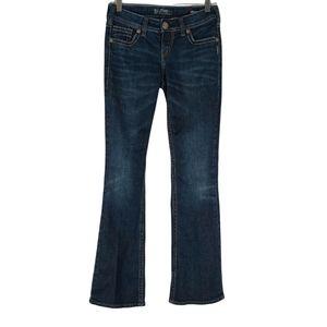 Silver Aiko Mid Bootcut Jeans Darkwash W27/L31